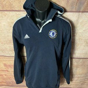 Chelsea Football Club Adidas Mens Hoodie Medium
